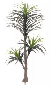 Planta Árvore Artificial Yucca Texturizada Verde 2 Tons 1,5m