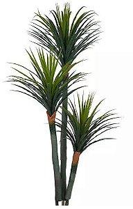 Planta Árvore Artificial Yucca 3 Troncos Verde Escuro 1,7m