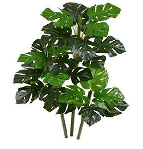 Planta Artificial Árvore Costela de Adão Real Toque X27 90cm