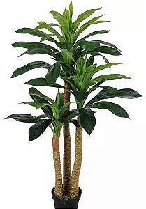 Planta Árvore Artificial Dracena Real Toque com Pote Verde 1,2m