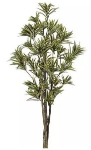 Planta Árvore Artificial Dracena Reflexa Verde Amarelo 1,5m