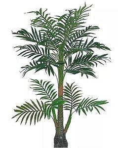 Planta Árvore Artificial Palmeira 2 Galhos Real Toque Verde 1,5m