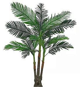 Planta Árvore Artificial Palmeira Real Toque Verde 2,08m