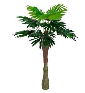 Planta Artificial Árvore Palmeira Leque Real Toque Verde 1,2m