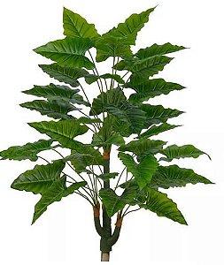 Planta Árvore Artificial Philodendron Verde 3 Troncos 90cm