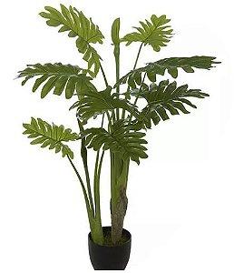 Planta Árvore Artificial Philodendron Verde 1m