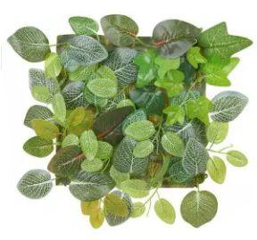 Folhagem Artificial Placa Folha Verde 25x25cm