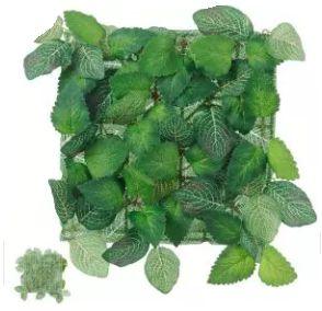 Folhagem Artificial Placa Folha Verde Diversas 25x25cm