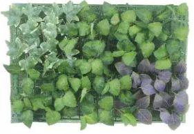 Folhagem Artificial Placa Mix Folhas Verde Roxo 40x60cm
