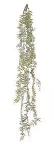Folhagem Artificial Samambaia Pendente Verde Outono 1,2m