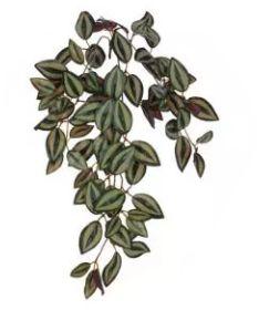 Folhagem Artificial Lambari para Pendurar Verde Roxo 55cm