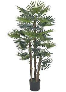 Planta Artificial A.Palmeira Leque Real Toque C/pote X30 (VERDE) 1,2m