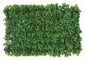 Planta Folhagem Artificial Placa Grama Mix Verde 60x40cm