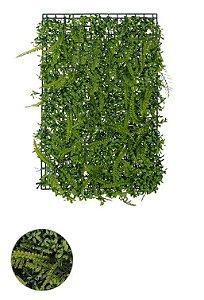 Folhagem Grama Artificial Placa Verde 40x60cm Mod1