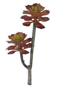 Folhagem Suculenta Vermelha e Verde 30 cm
