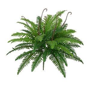 Folhagem Artificial Samambaia Verde 60cm