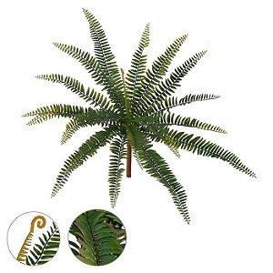 Folhagem Artificial Samambaia Verde Marrom 49cm