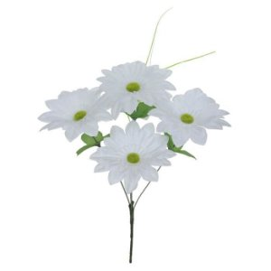 Buquê Flor Artificial Margarida Branco 37cm