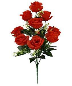 Buquê Rosa X10 (VERMELHO) 46cm