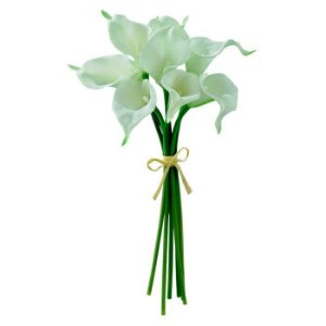 Buquê Flor Artificial Copo-de-leite Creme 34cm