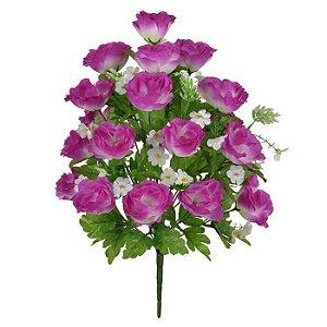 Buquê Rosa Branco Lavanda 54 cm