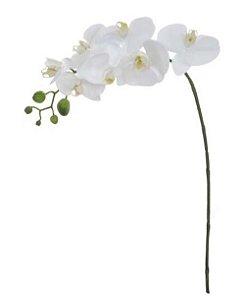 Haste Flor Artificial Orquídea Phalaenopsis Real Toque X7 Branco 71cm