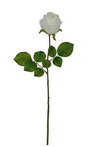 Haste de Rosa Branco 56cm