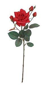 Haste de Rosa Real Toque Grace X4 Cor Vermelho 68cm