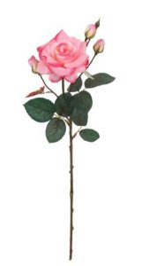 Haste de Rosa Real Toque Grace X4 Cor Rosa 68cm