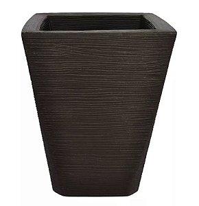 Vaso Cachepot Plástico Trapézio Tabaco 43cm