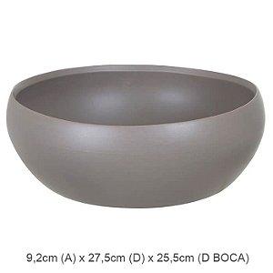 Vaso Cerâmica Bacia Fendi Fosco 9,2x27,5cm