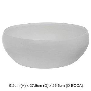 Vaso Cerâmica Bacia Branco Fosco 9,2x27,5cm