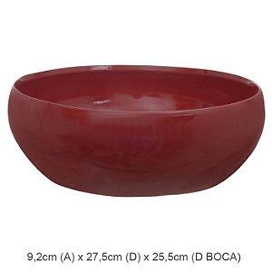 Vaso Cerâmica Bacia Vermelho 9,2x27,5cm