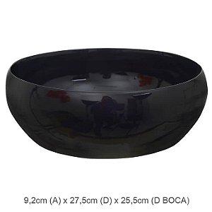 Vaso Cerâmica Bacia Preto 9,2x27,5cm