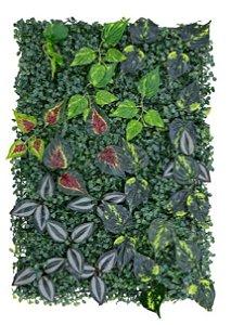 Folhagem Artificial Placa Grama Verde Folhas 40x60cm X22 mod9