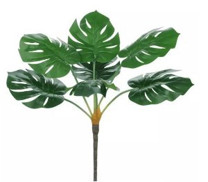 Planta Árvore Artificial Costela-de-Adão Real Toque - 60cm