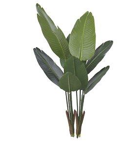 Planta Artificial Árvore Bananeira de Jardim X8 1,2m