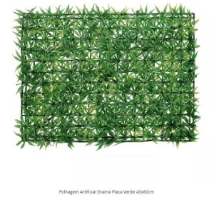 Folhagem Artificial Grama Placa Verde 40x60cm