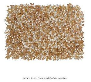 Folhagem Artificial Placa Grama Palha Outono 40x60cm