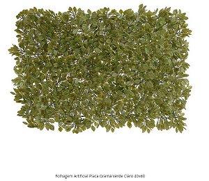 Folhagem Artificial Placa Grama Verde Claro 40x60cm