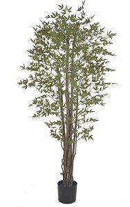 Planta Artificial A.Mini Folha Real Toque C/ Pote X4400  (VERDE BD.LARANJA) 1,9m