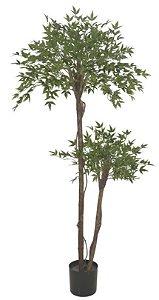 Planta Artificial A.Mini Folha Real Toque C/Pote X2700 (1,8m)