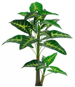 Planta Árvore Artificial Alocásia Verde 1,25m