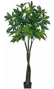 Planta Árvore Artificial Cheflera Macho Verde 1,70m