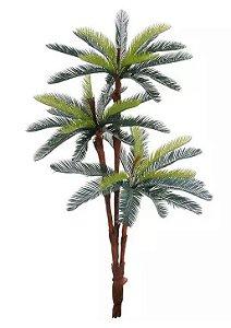 Árvore Artificial Palmeira Cycas Verde 1,77m