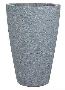 Cachepot Plástico Cônico Cinza 57x38cm