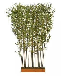 Árvore Artificial Canteiro Bambu Real Toque Verde 1,9m