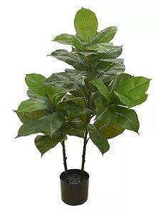 Árvore Artificial Ficus Elástica Real Toque Verde 1m