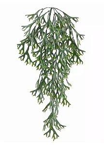 Folhagem Artificial Chifre-de-Veado Pendente Com Powder Verde 77cm