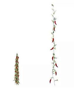 Folhagem Artificial Pimenta Pendente vermelha 1,8m